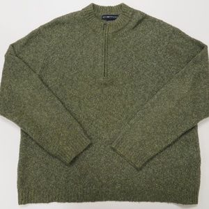 ExOfficio Mens Sweater XXL Green 1/4 Zip Pullover